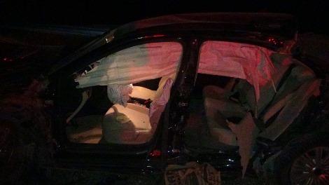 Çınarda yoldan çıkan otomobil takla attı: 1 ölü, 4 yaralı