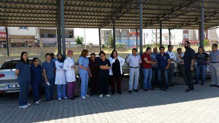 Çınar'da doktorlar Samsun'da öldürülen doktor için iş bıraktılar