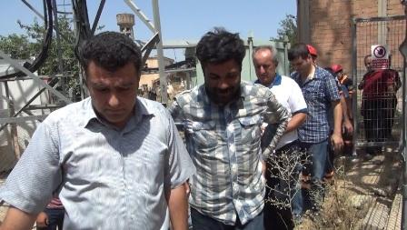 Çınar'da 50 metrelik direğe çıkan şahıs 17 saat sonra indi