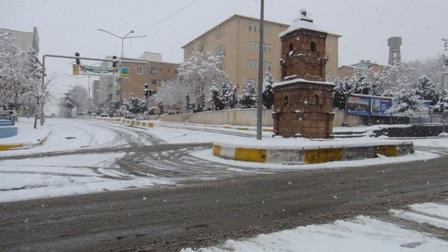 Çınar'da yoğun kar yağışı devam ediyor