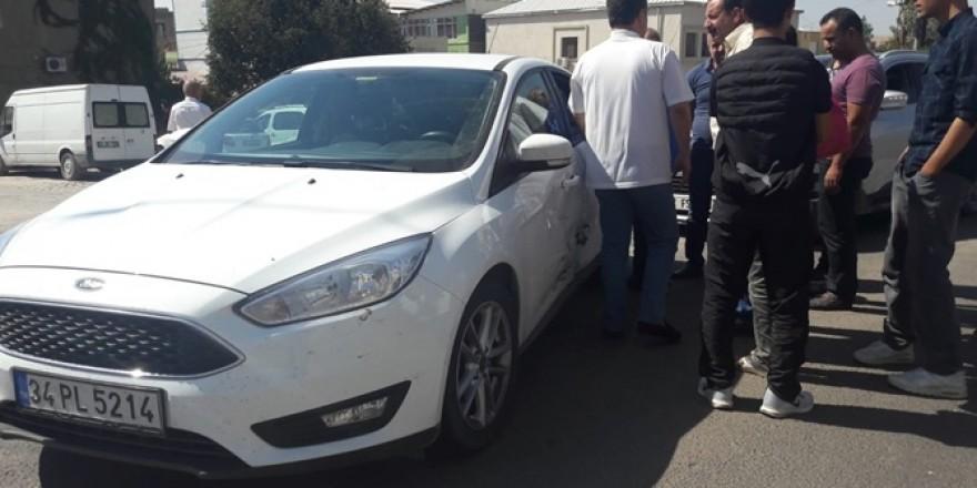 Çınar'da maddi hasarlı trafik kazası