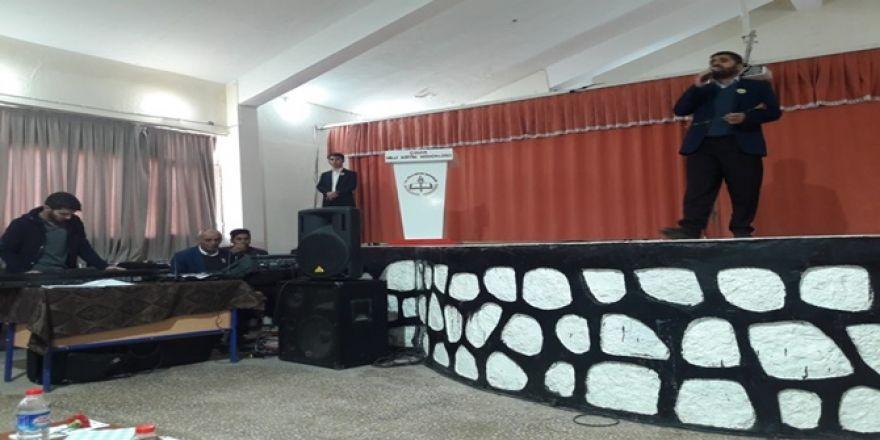Çınar Anadolu İmam hatip lisesi öğrencileri Mevlid-i Nebi etkinliği düze