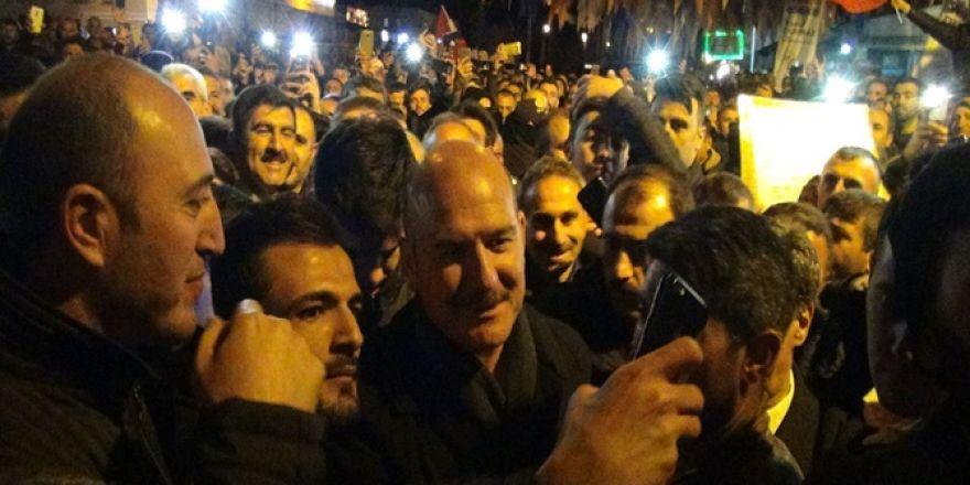 İçişleri Bakanı Süleyman Soylu Çınar'da