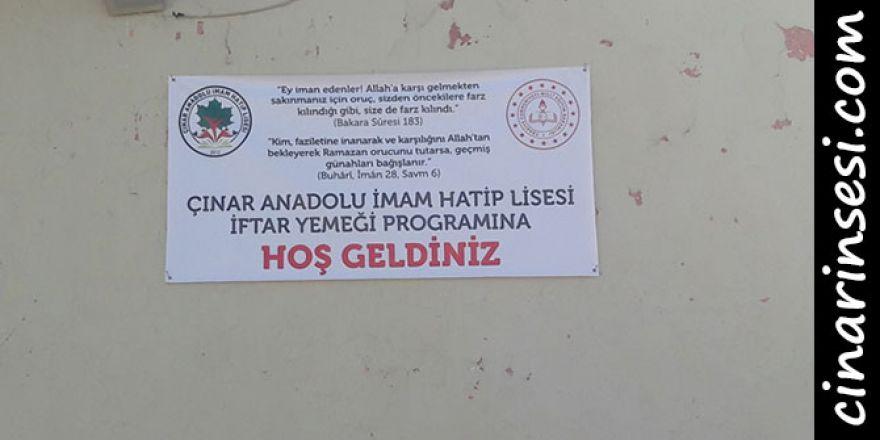 Çınar Anadolu İmam Hatip Lisesinden İftar Yemeği
