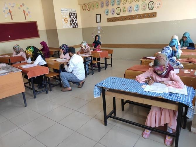Çınar'da Kur'an Nesline Kur'an Pınarı sınavı heyecanı 2019 1