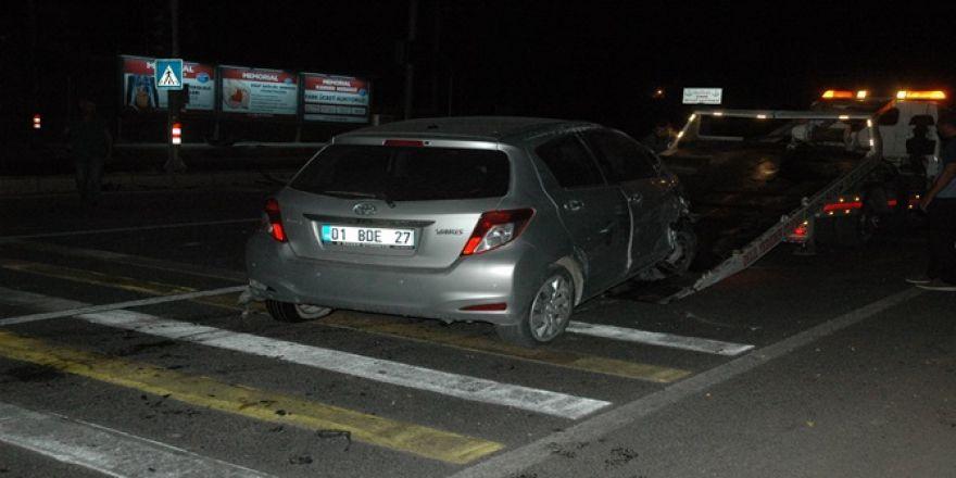 Çınar'da iki aracın çarpıştığı kazada 2 kişi yaralandı