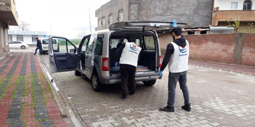 Çınar'da ihtiyaç sahibi 300 aileye kanatlı et yardımı