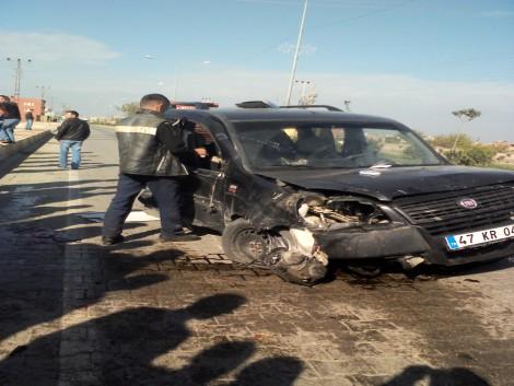 Çınar`da Trafik Kazası: 1 Ölü 5