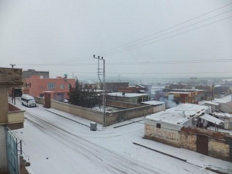 Çınar'da Kar Yağdı 1