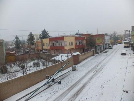 Çınar'da Kar Yağdı 3