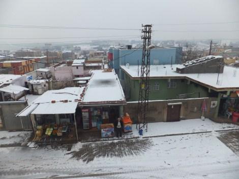Çınar'da Kar Yağdı 4