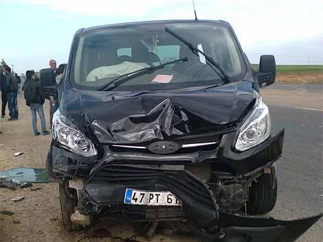 Çınar'da trafik kazası: 2 yaralı 1