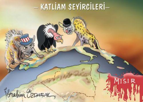Mısır'daki katliamları anlatan karikatürler