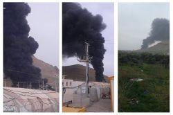 Mardin'in Derik ilçesinde çadır kentte korkutan yangın