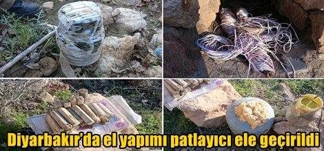 Diyarbakır'ın Dicle ilçesinde el yapımı patlayıcı ele geçirildi video foto