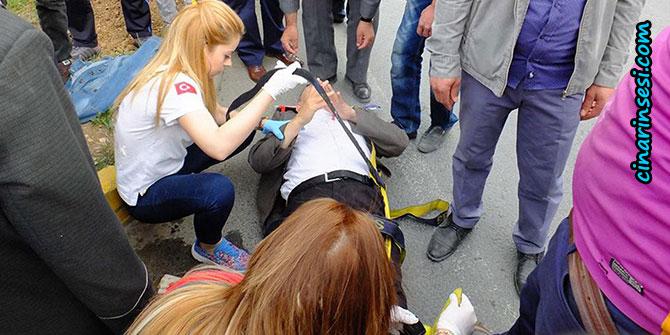 Mardin'de aracın çarptığı yaya yaralandı