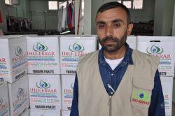 İHO Ebrar'dan çatışma mağduru ailelere yardım