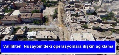 Valilikten  Nusaybindeki operasyonlara ilişkin açıklama