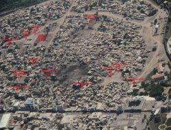 Dîmenên hilweşînê yên Sûrê ji hewayê hatin girtin