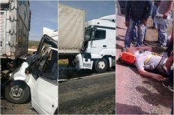 Midyat-İdil Karayolu'nda zincirleme kaza: 3 yaralı foto