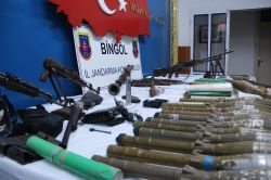 Bingölde PKKye ait mühimmat ele geçirildi
