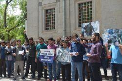 Erciyes Üniversitesi öğrencileri Halep katliamını kınadı foto