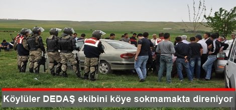 Batman Zorköy sakinler DEDAŞ ekibini köye sokmamakta direniyor video foto