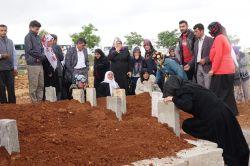 Gaziantep'teki yangında hayatını kaybeden baba ve çocukları toprağa verildi video foto