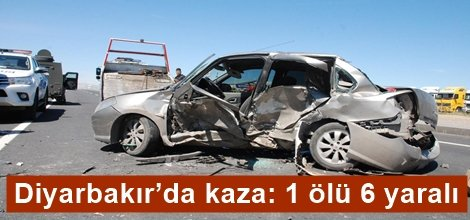 Diyarbakır'da kaza: 1 ölü 6 yaralı video foto