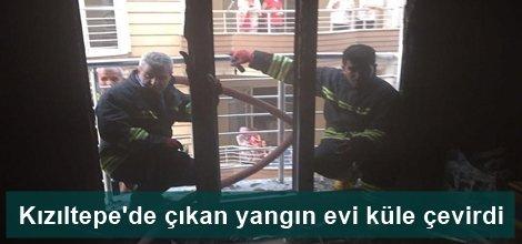 Kızıltepe'de çıkan yangın evi küle çevirdi video foto