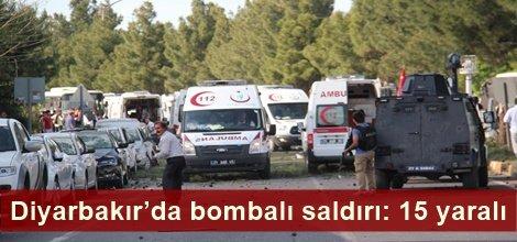 Diyarbakır'da bombalı saldırı: 15 yaralı video FOTO