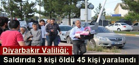 Diyarbakır Valiliği: Saldırıda 3 kişi öldü 45 kişi yaralandı video foto