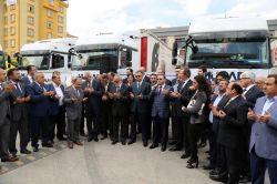 Gaziantep'ten Suriye'ye 11 TIR'lık yardım