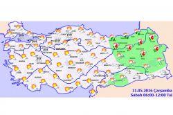 Doğu bölgelerinde yağış bekleniyor