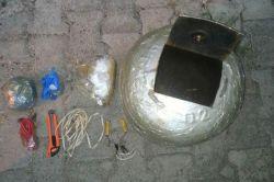 Tunceli'de patlayıcı maddeleri ele geçirildi