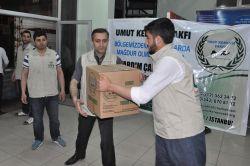Umut Kervanı'ndan mağdurlara yardım video foto