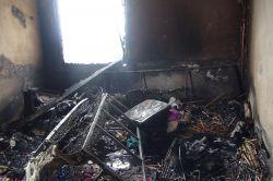 Şanlıurfa'nın Birecik ilçesinde bir evde yangın çıktı foto