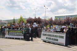 Üniversite öğrencileri Nizami'nin idamını protesto etti