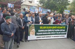 Bingöllüler Rahman Nizami'nin idamına sert tepki gösterdi video foto