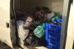 Diyarbakır'da 700 kilo kaçak hayvansal ürün ele geçirildi