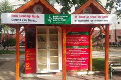 Adıyamanda park ziyaretçileri için kitap standı açıldı foto