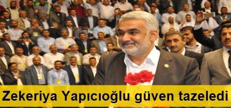 HÜDA PAR 2.Olağan Büyük Kongresinde başkan Zekeriya Yapıcıoğlu güven tazeledi