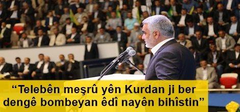 """""""Telebên meşrû yên Kurdan ji ber dengê bombeyan êdî nayên bihîstin"""""""