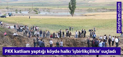 PKK, katliam yaptığı köyde halkı 'işbirlikçilikle' suçladı