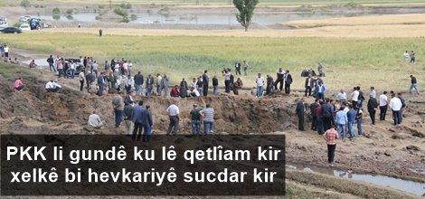 PKK li gundê ku lê qetlîam kir xelkê bi hevkariyê sucdar kir
