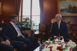TBMM Başkanı Kahraman, Başbakan Davutoğlu'nu kabul etti foto
