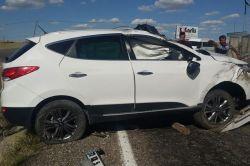 Kontrolden çıkan araç takla attı: 1 yaralı