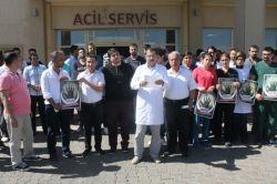 Şanlıurfanın Viranşehir ilçesinde sağlık çalışanlarının darp edilmesine tepki