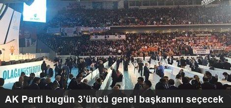 AK Parti bugün 3'üncü genel başkanını seçecek