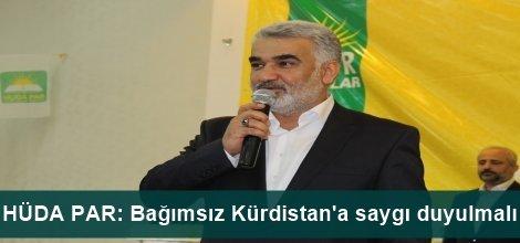 HÜDA PAR: Bağımsız Kürdistana saygı duyulmalı